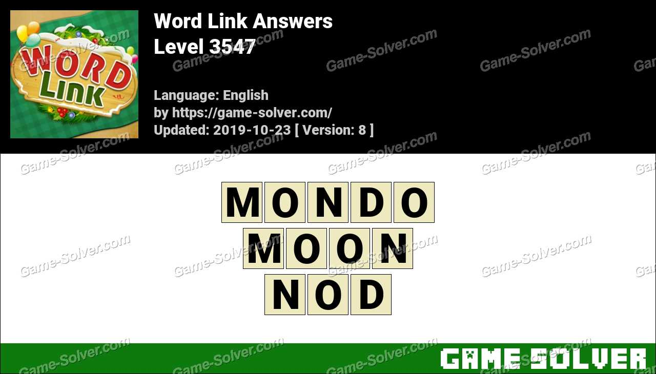 Word Link Level 3547 Answers