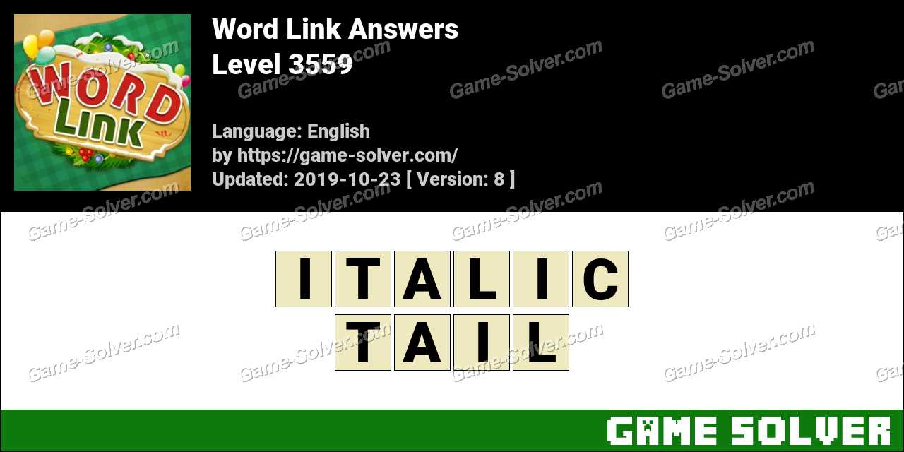 Word Link Level 3559 Answers