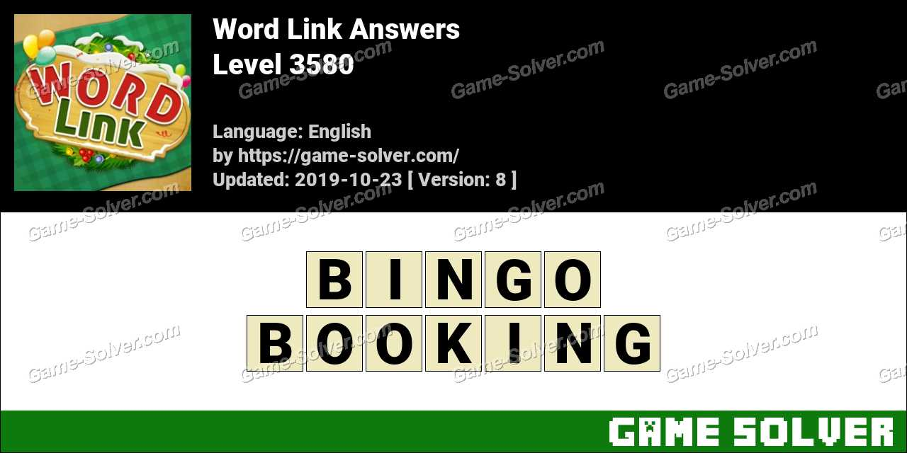 Word Link Level 3580 Answers