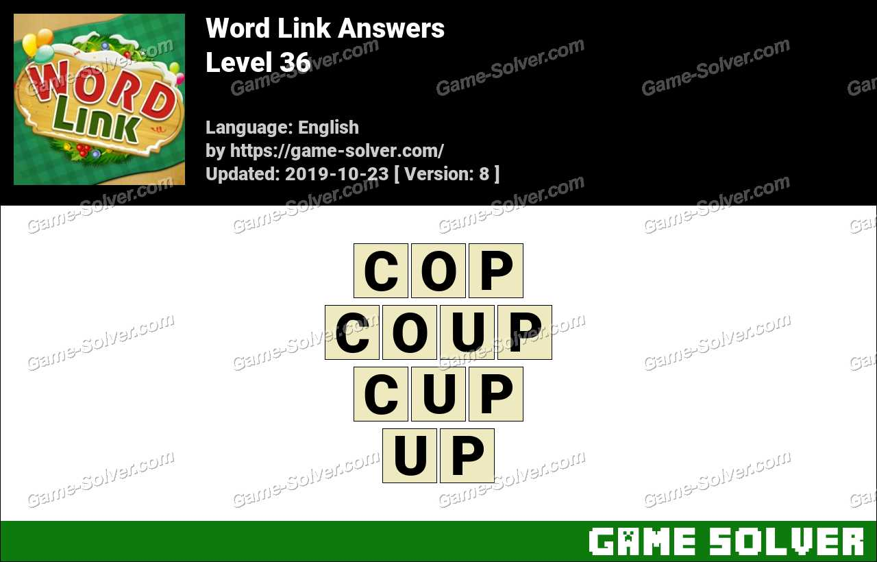 Word Link Level 36 Answers