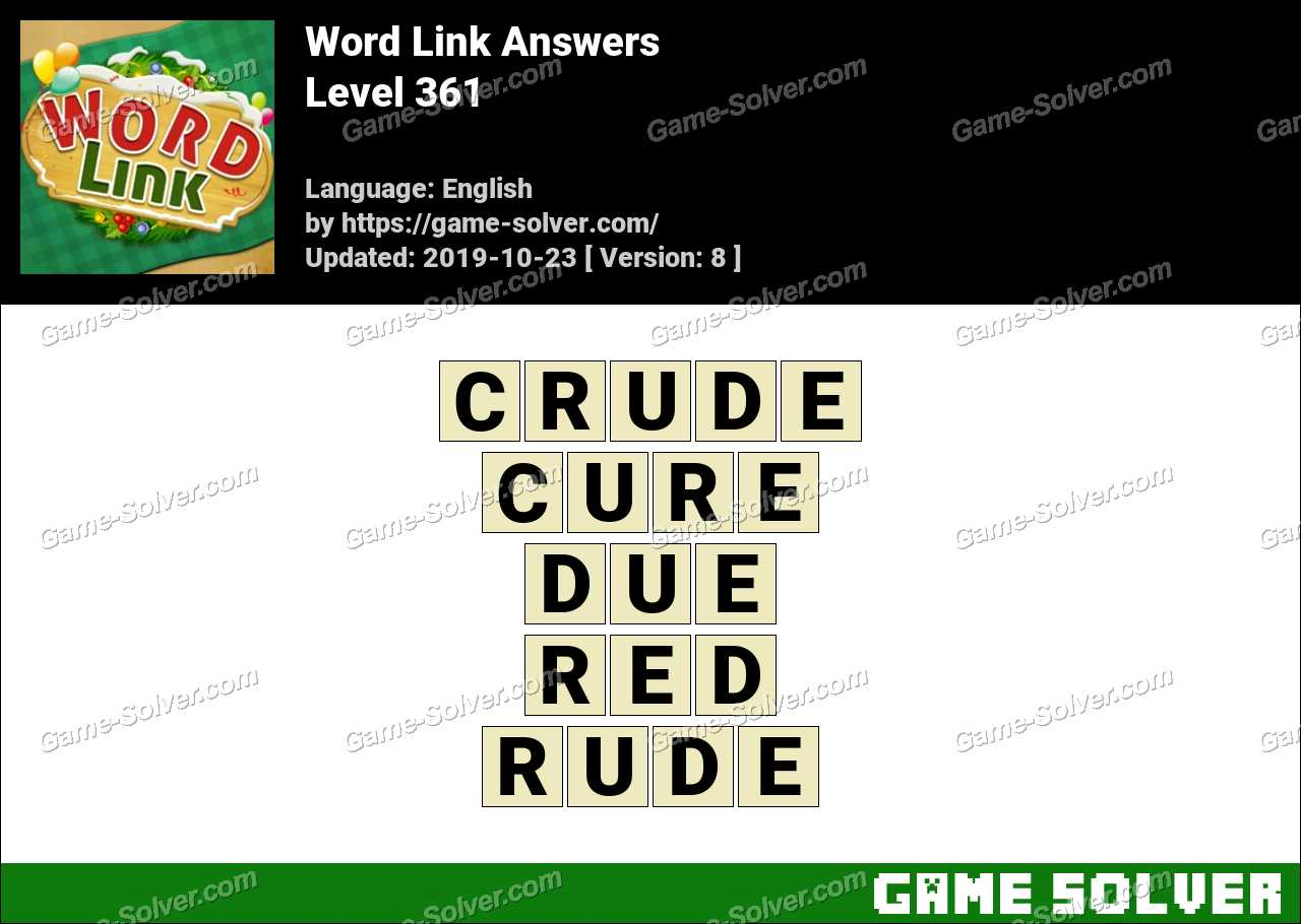 Word Link Level 361 Answers