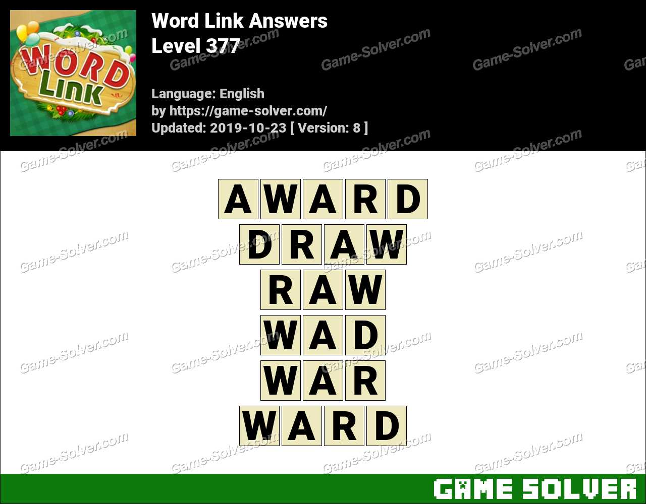 Word Link Level 377 Answers