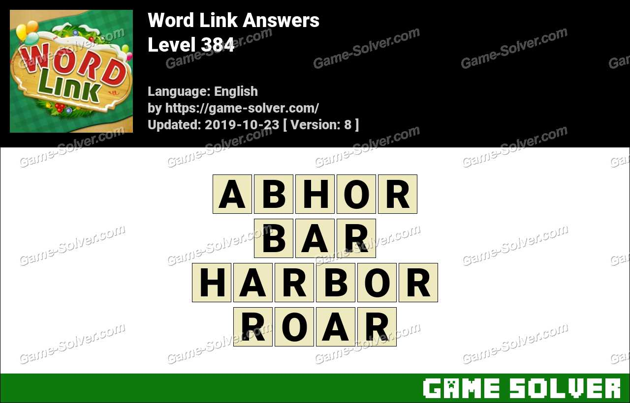 Word Link Level 384 Answers