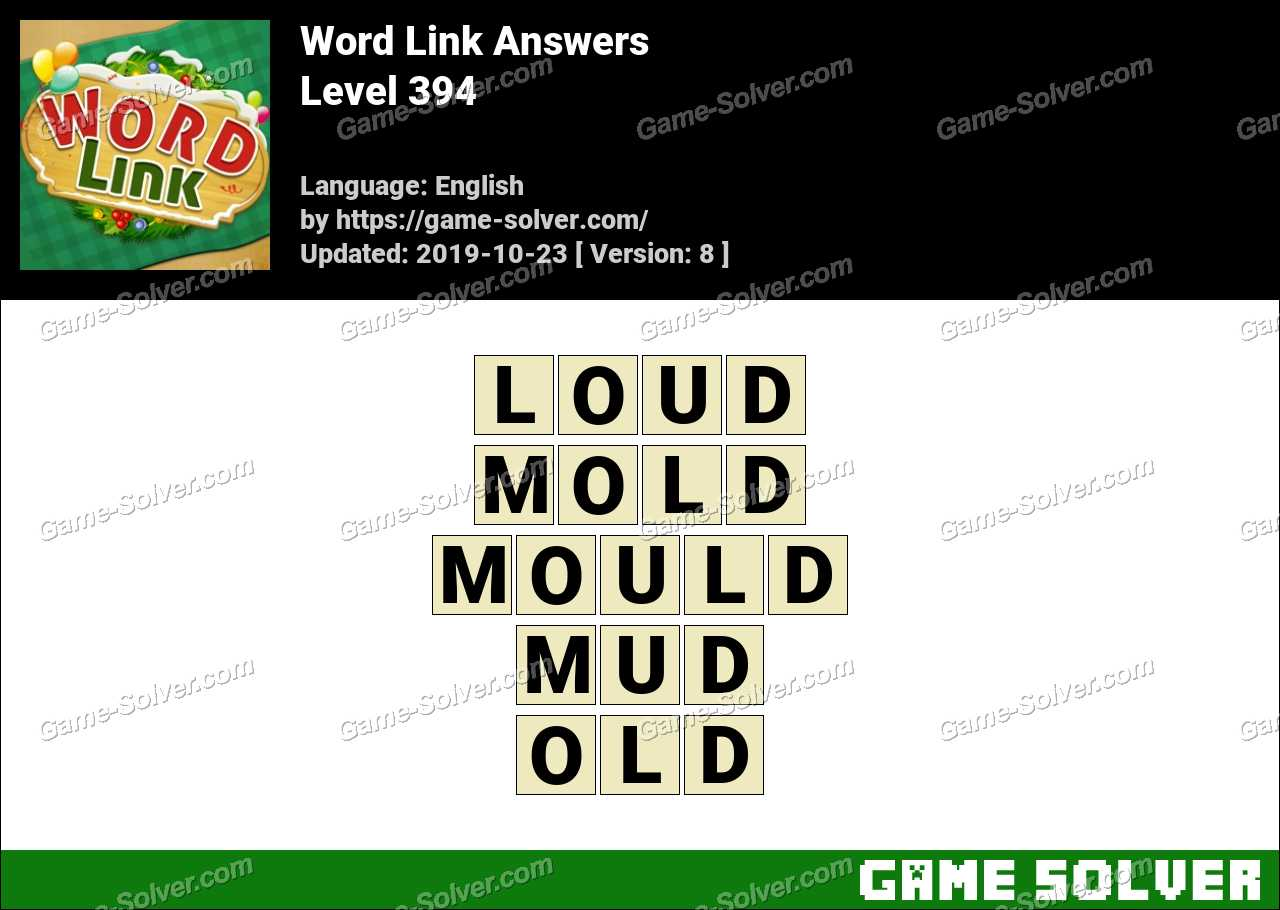 Word Link Level 394 Answers