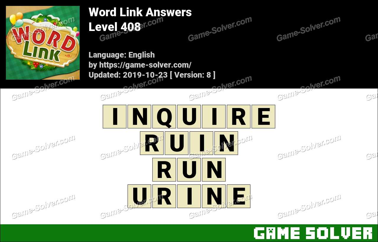 Word Link Level 408 Answers