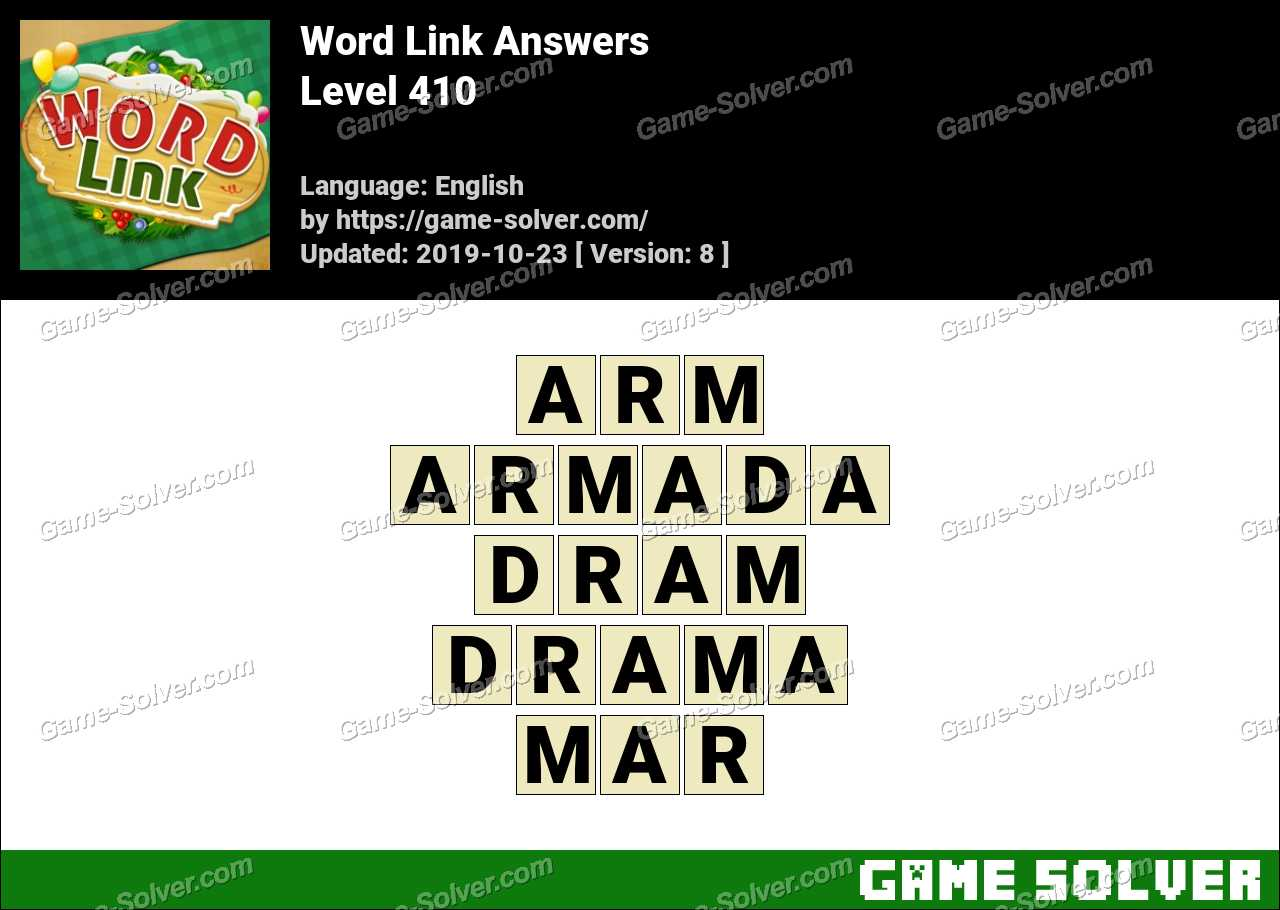 Word Link Level 410 Answers
