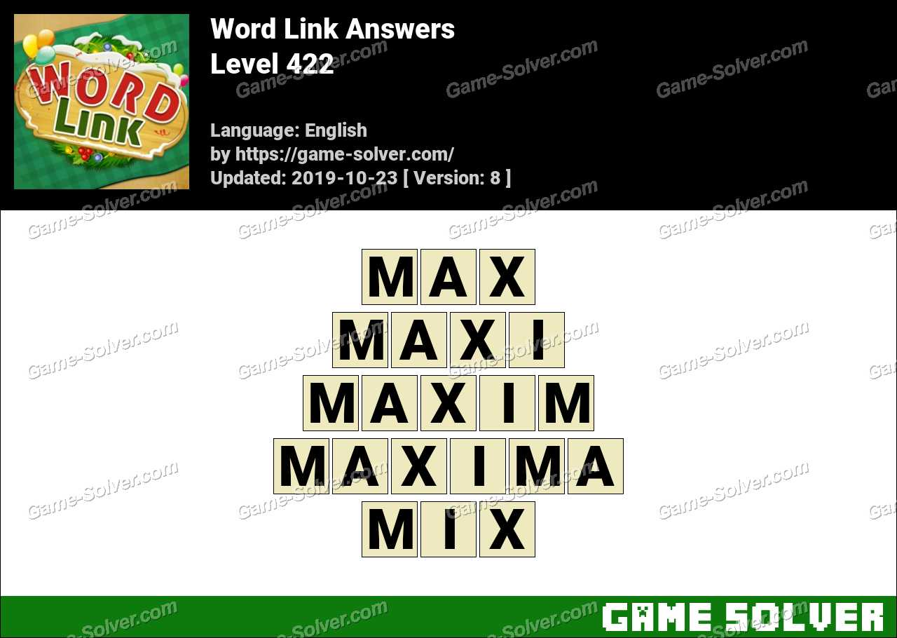 Word Link Level 422 Answers