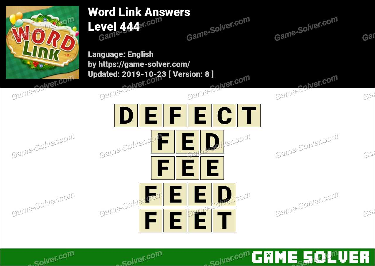 Word Link Level 444 Answers
