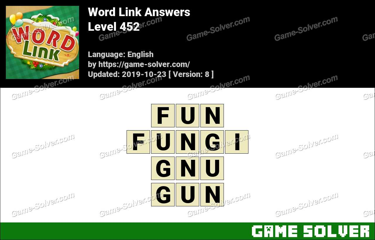 Word Link Level 452 Answers
