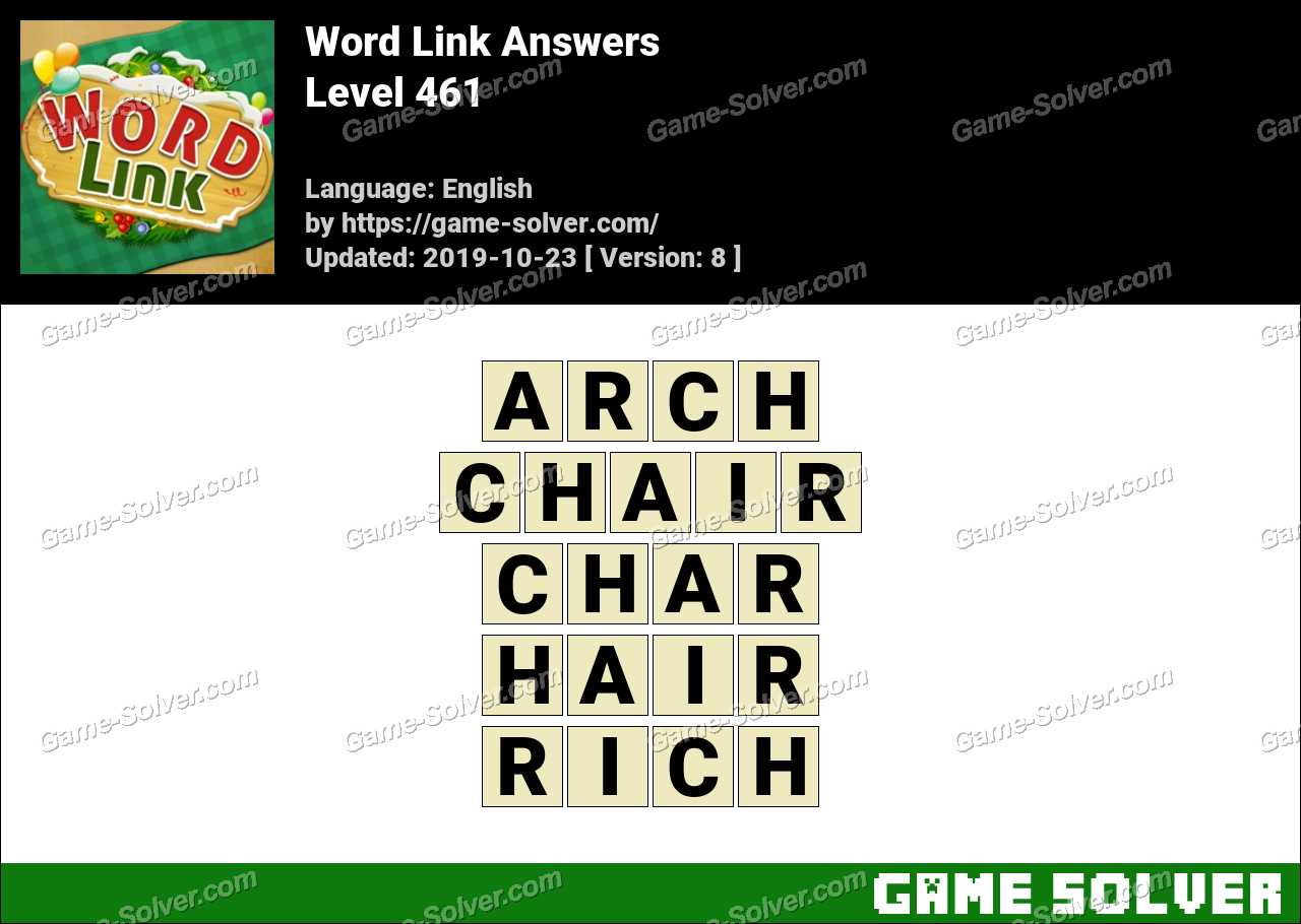 Word Link Level 461 Answers