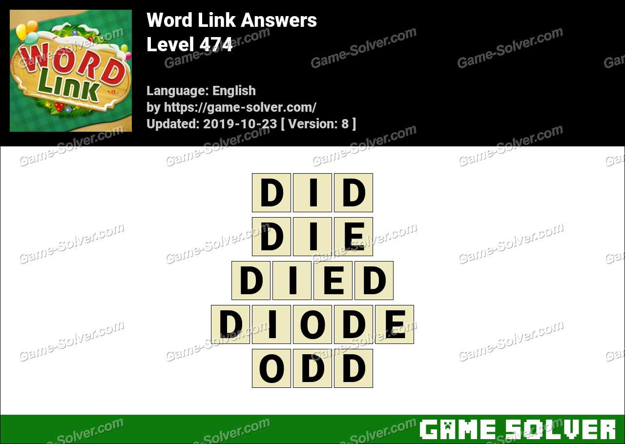 Word Link Level 474 Answers