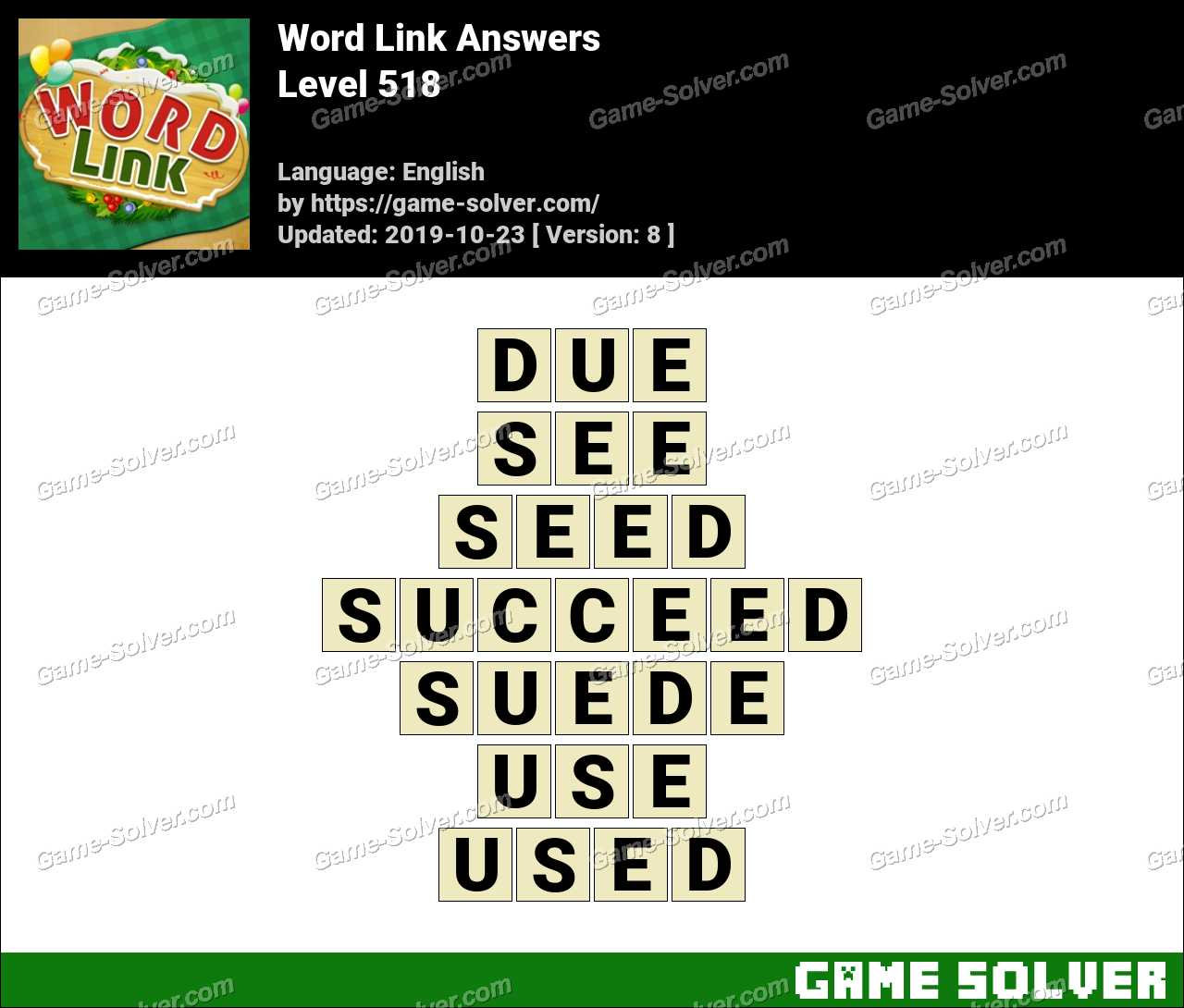 Word Link Level 518 Answers