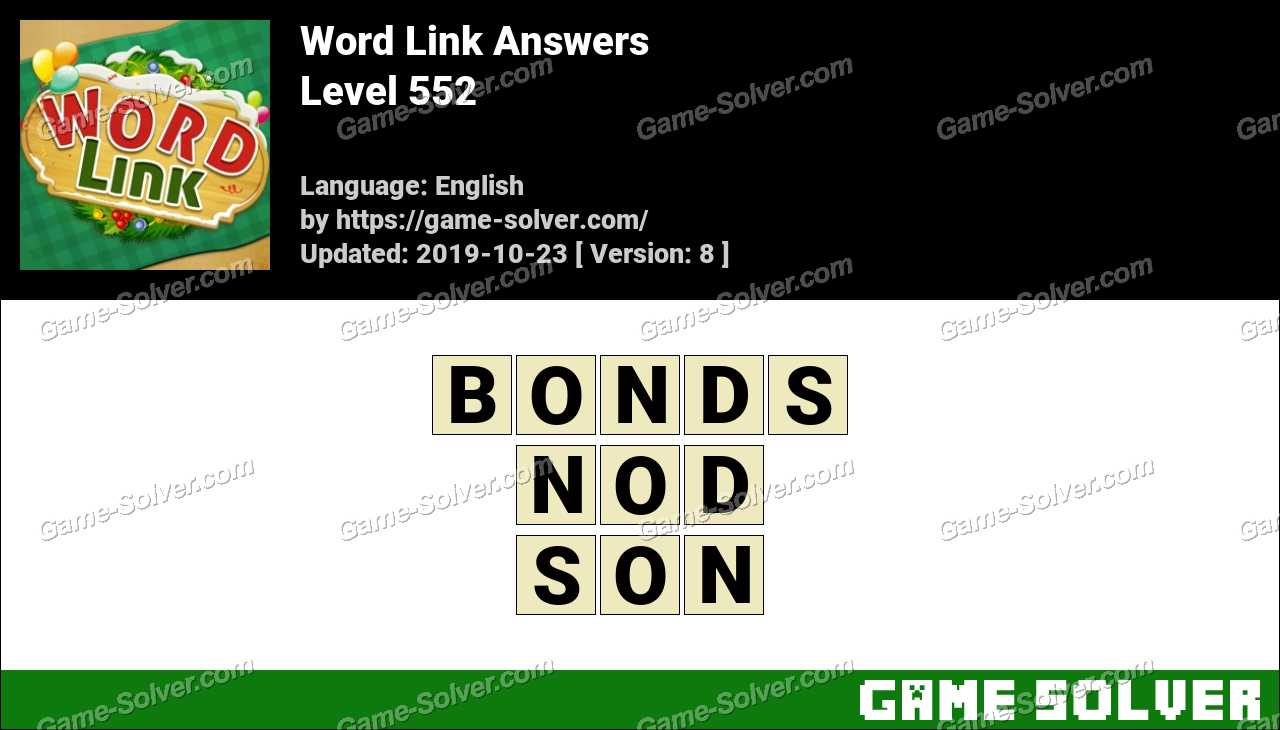 Word Link Level 552 Answers