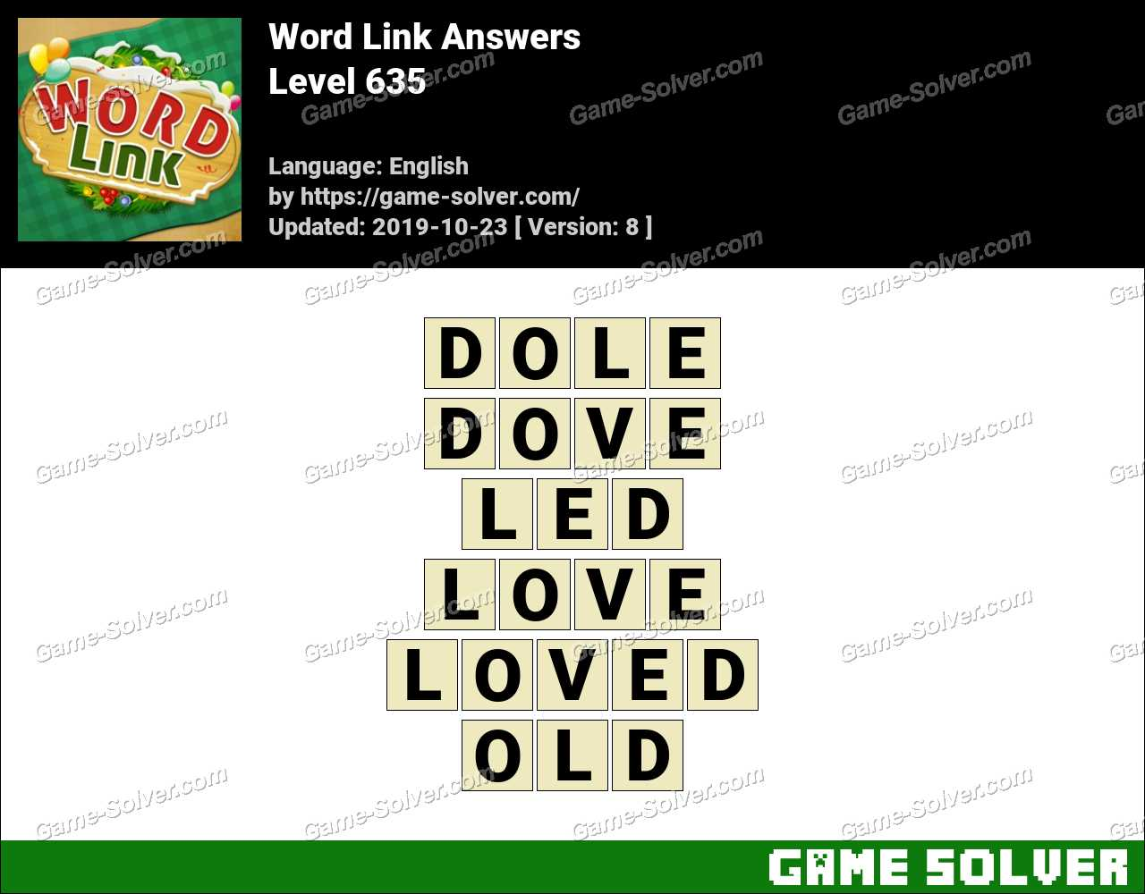 Word Link Level 635 Answers