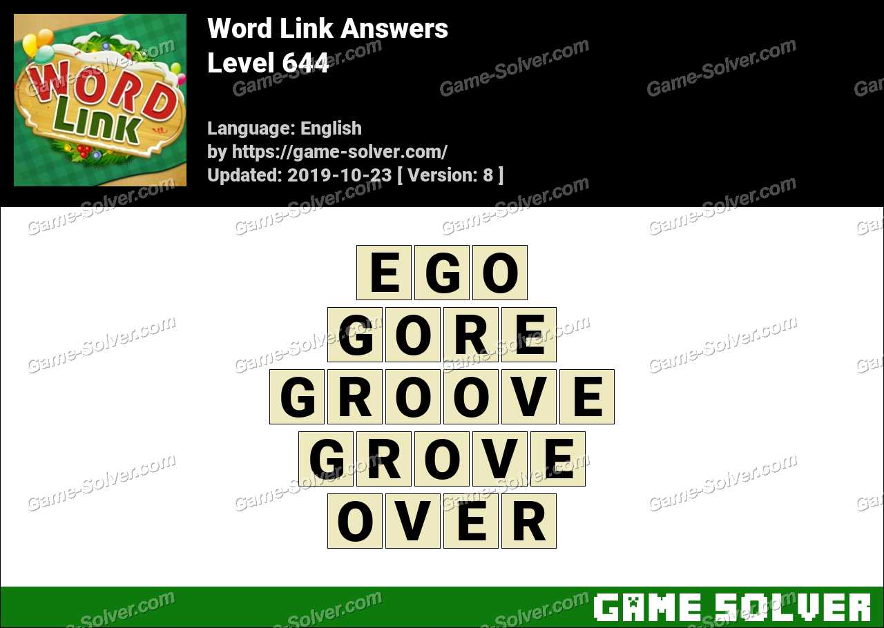 Word Link Level 644 Answers