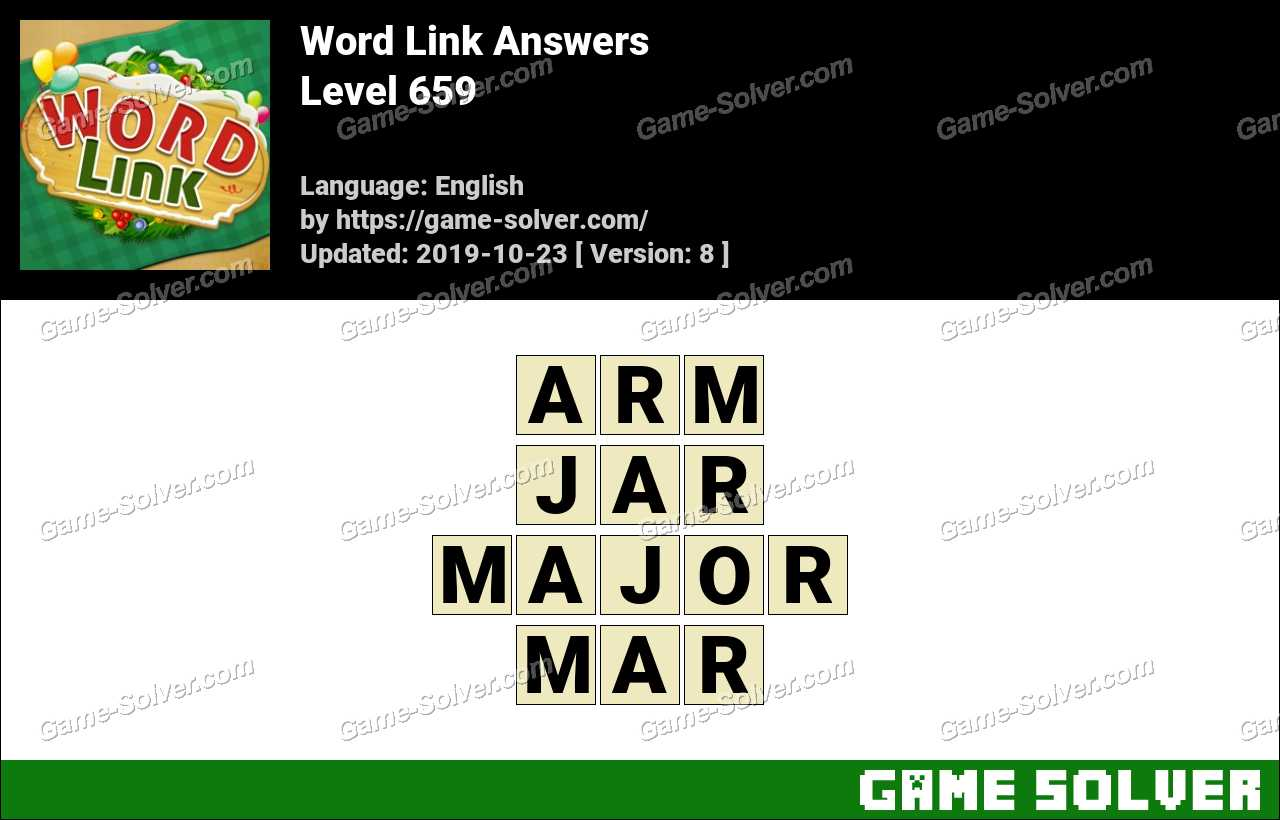 Word Link Level 659 Answers