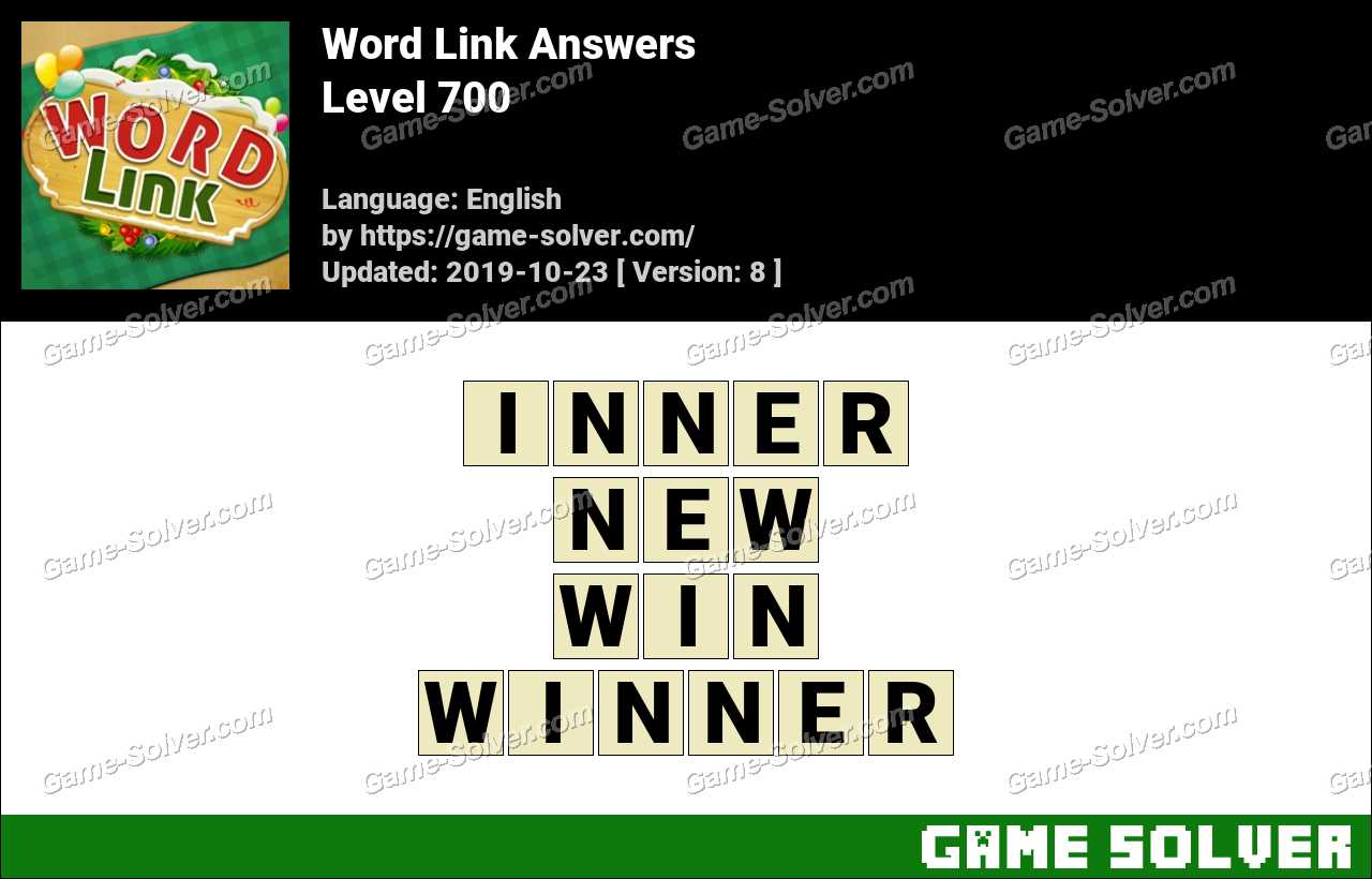 Word Link Level 700 Answers
