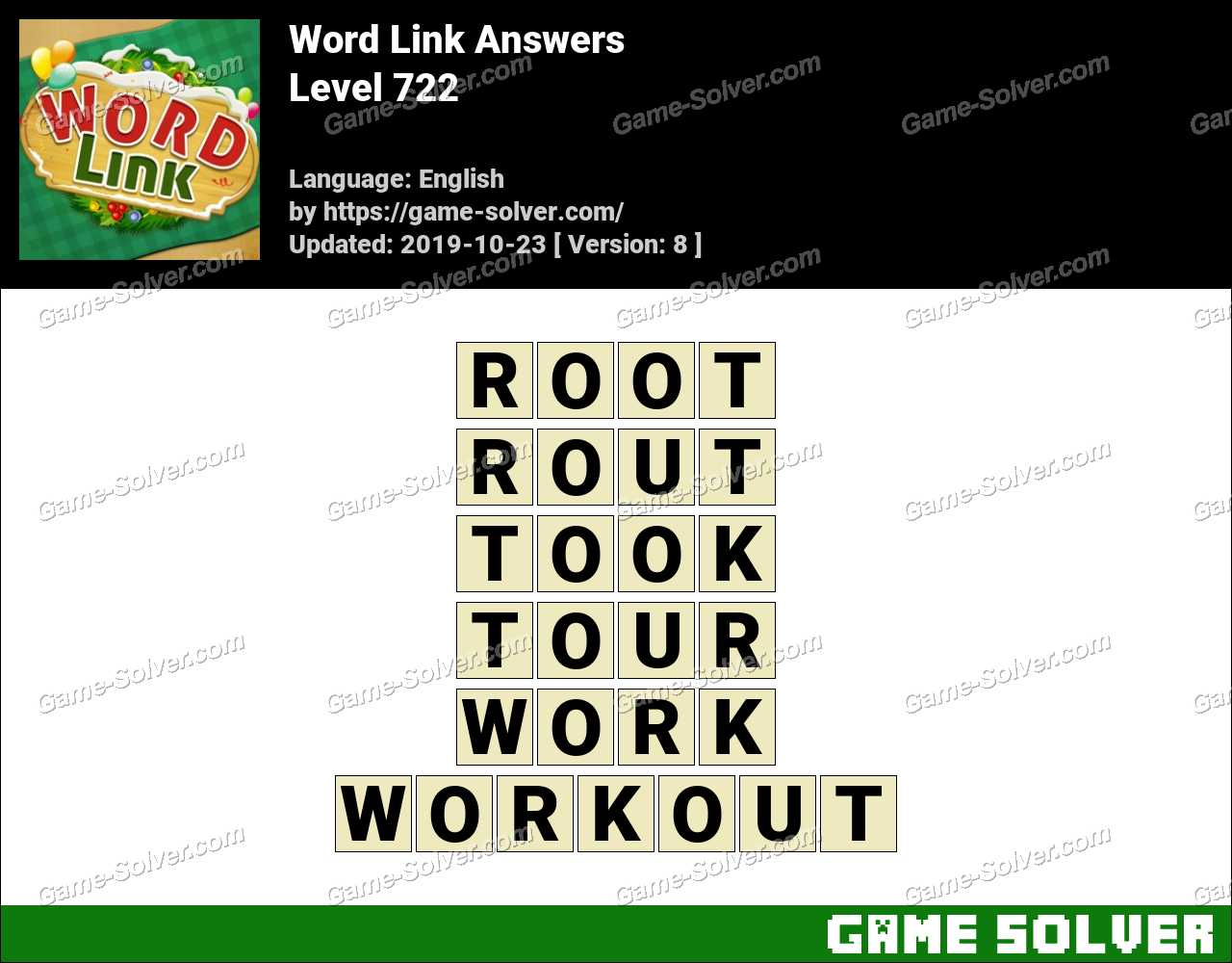 Word Link Level 722 Answers