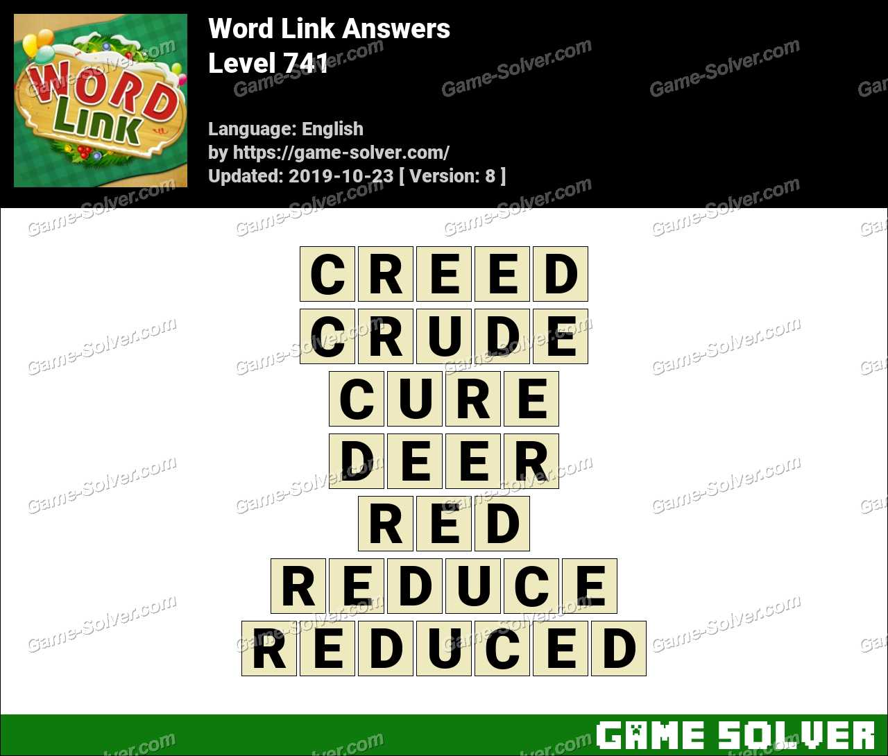 Word Link Level 741 Answers