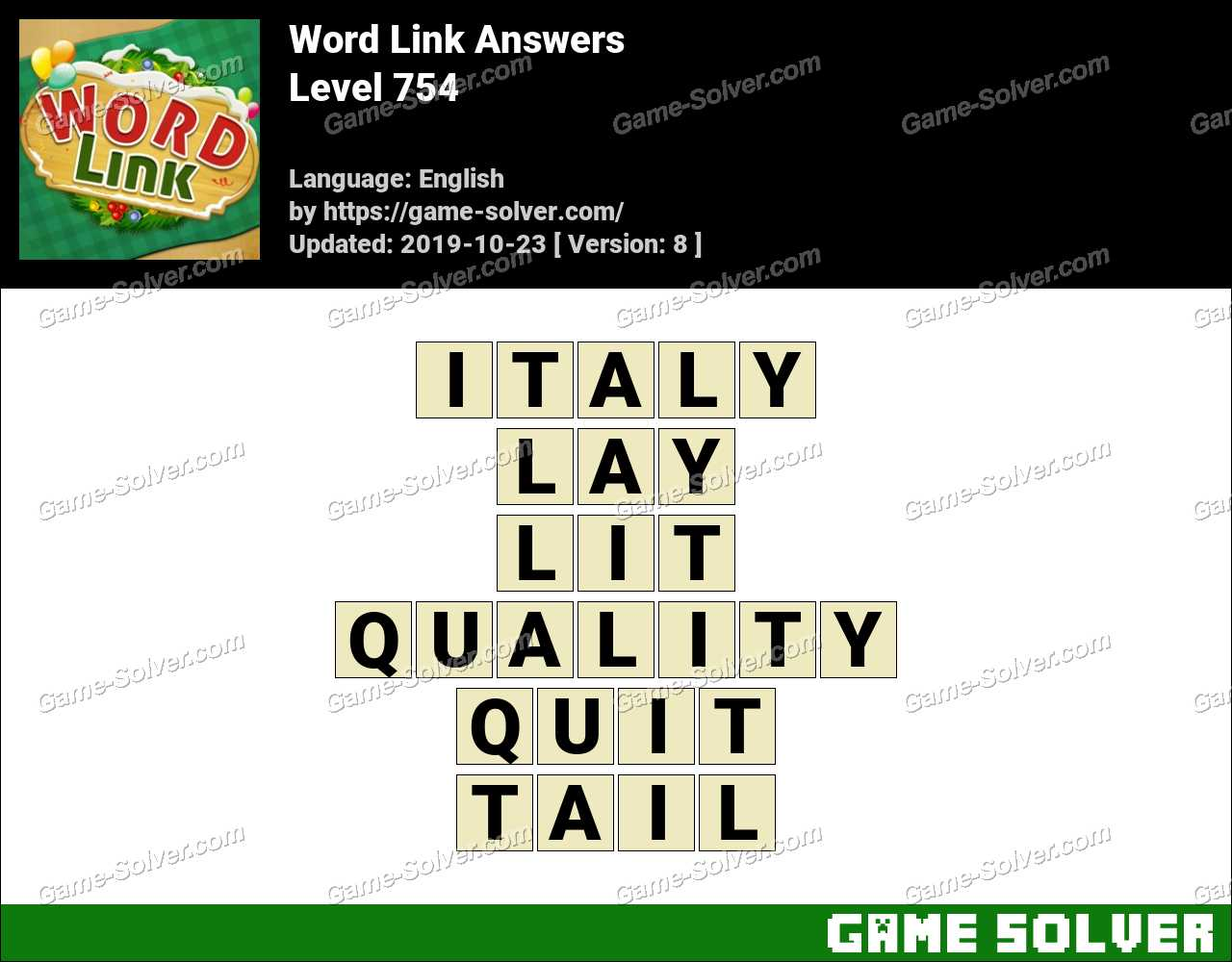 Word Link Level 754 Answers
