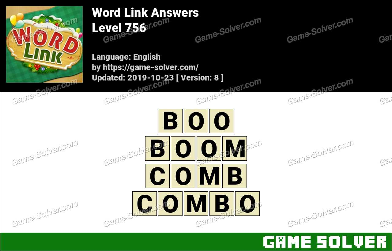Word Link Level 756 Answers