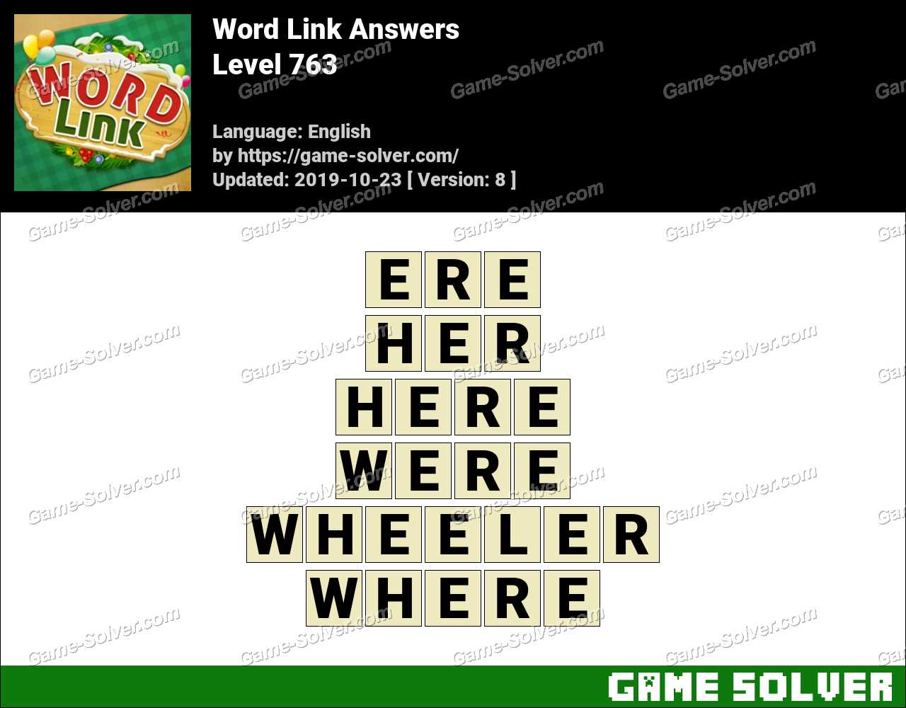 Word Link Level 763 Answers