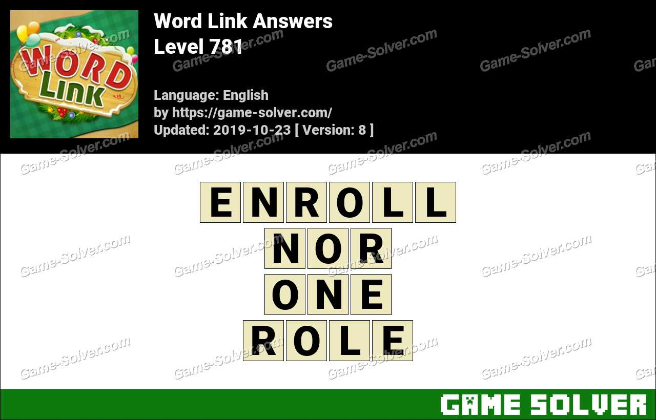 Word Link Level 781 Answers