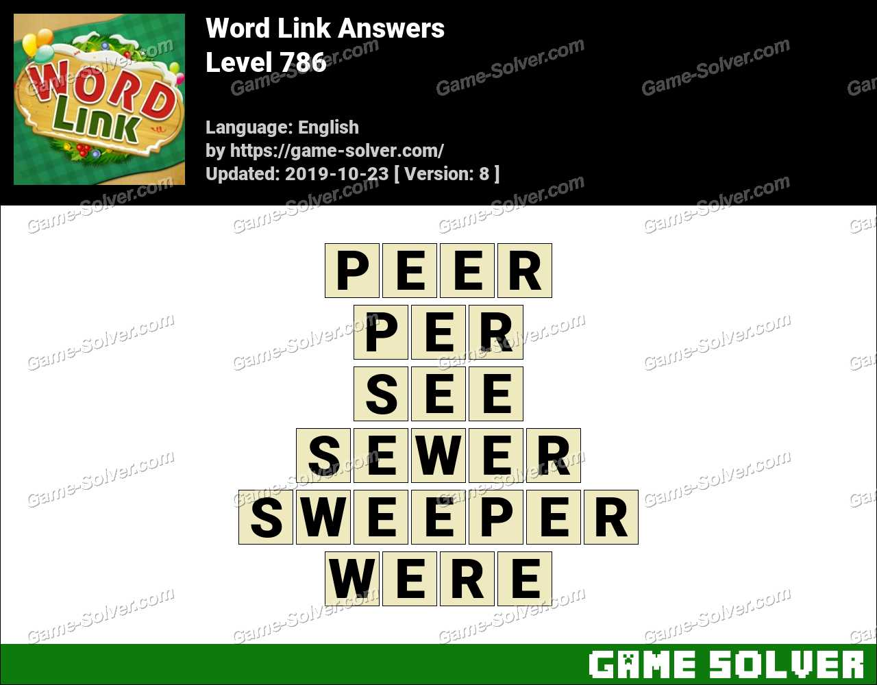Word Link Level 786 Answers