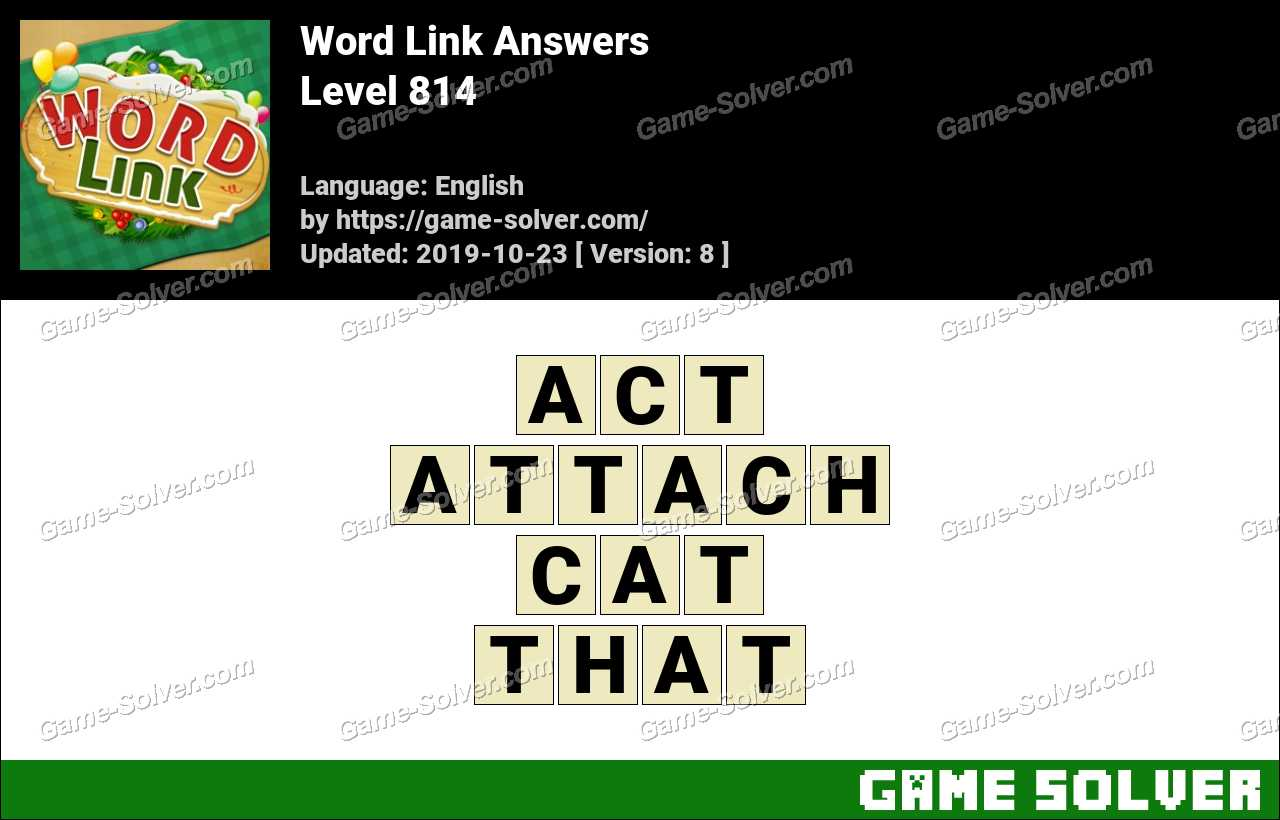 Word Link Level 814 Answers