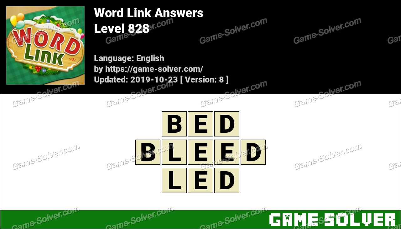 Word Link Level 828 Answers