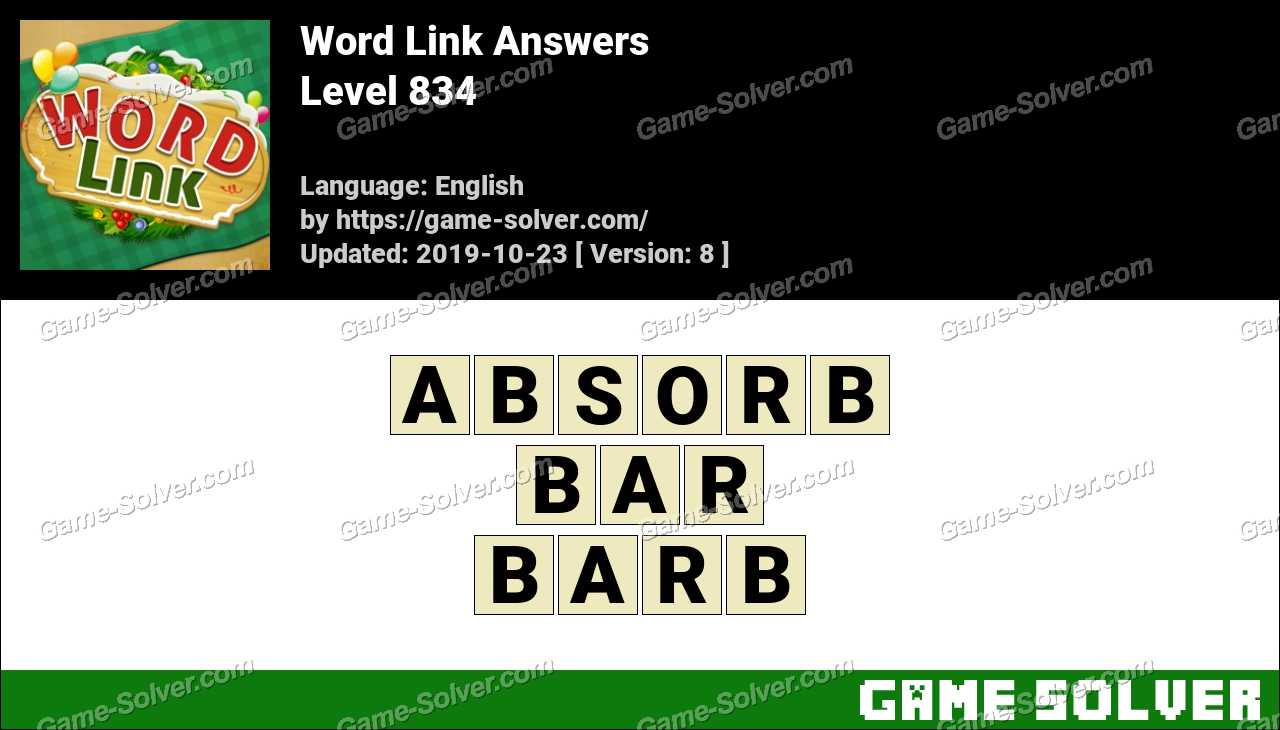 Word Link Level 834 Answers