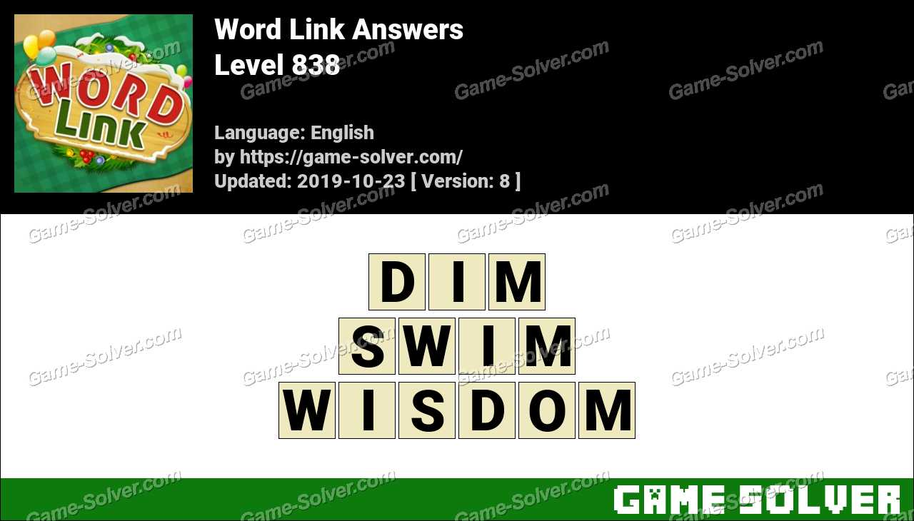 Word Link Level 838 Answers