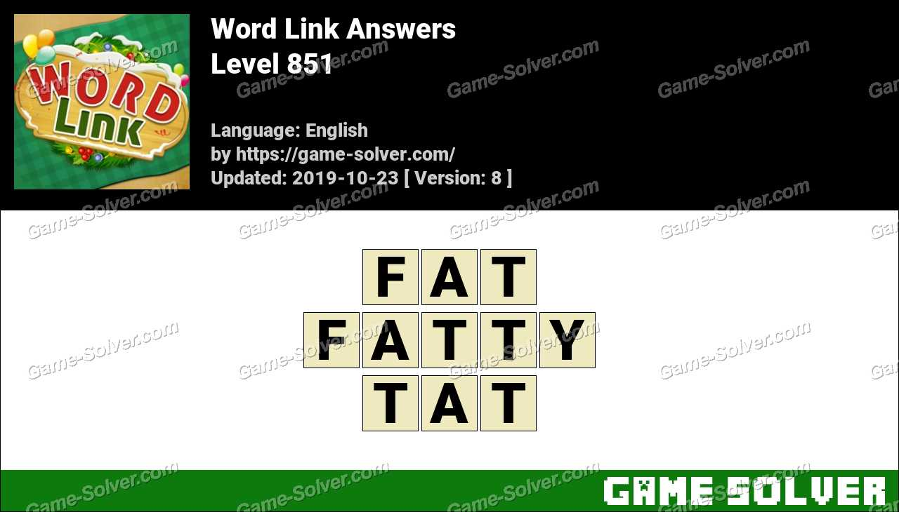 Word Link Level 851 Answers