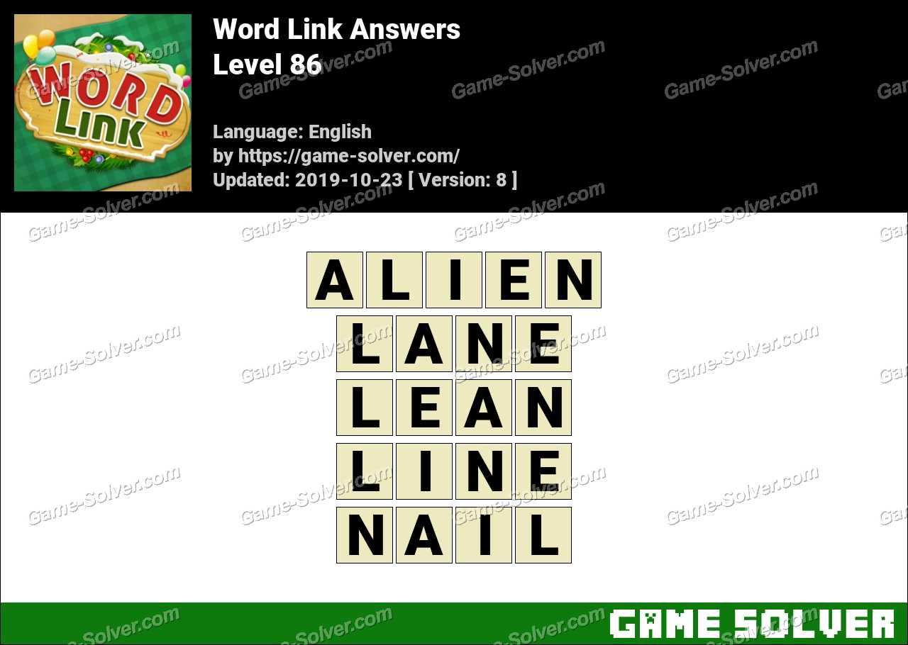 Word Link Level 86 Answers