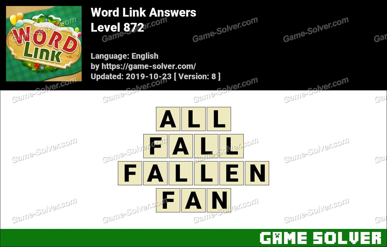 Word Link Level 872 Answers