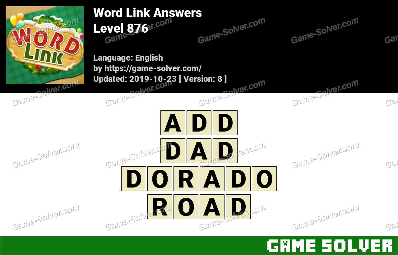 Word Link Level 876 Answers