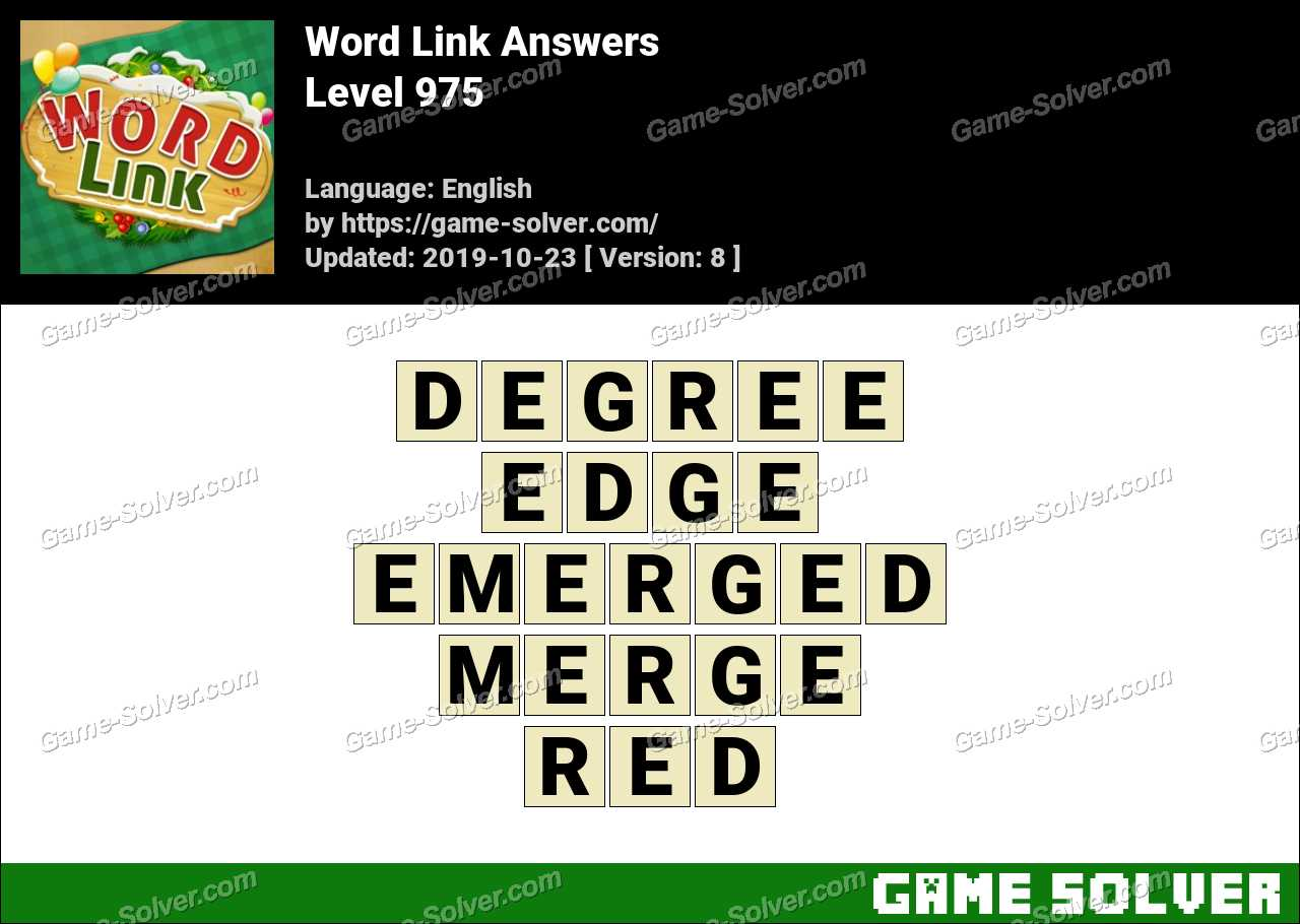 Word Link Level 975 Answers