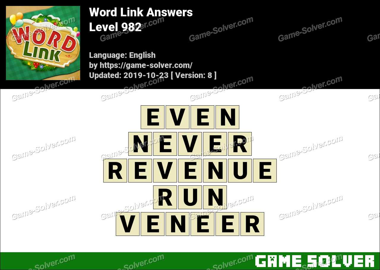 Word Link Level 982 Answers