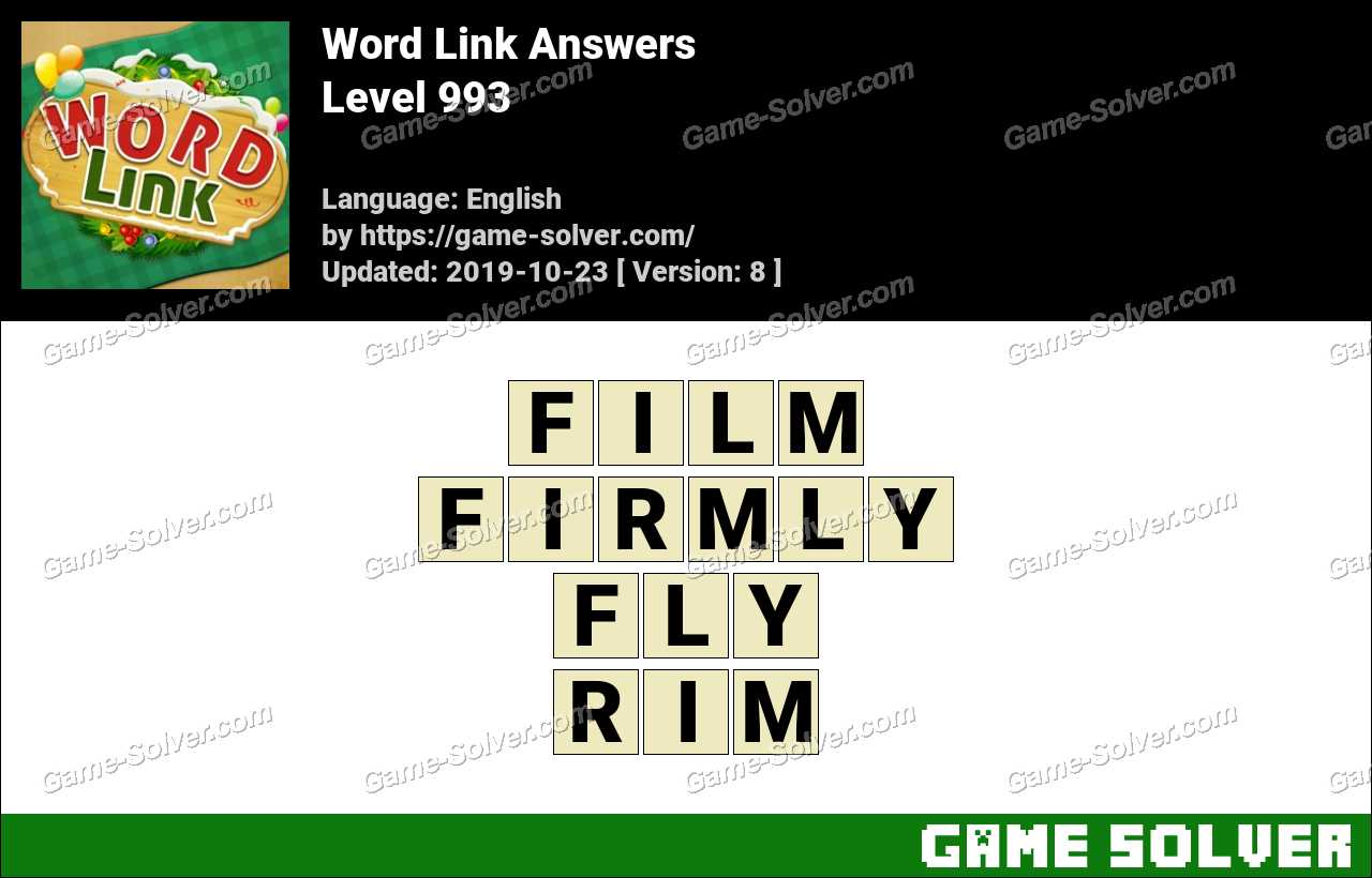 Word Link Level 993 Answers