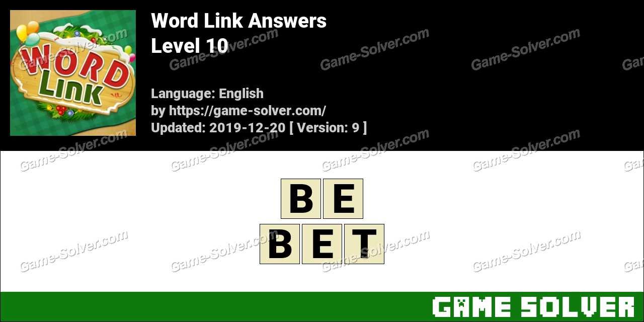 Word Link Level 10 Answers