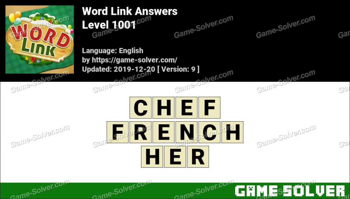 Word Link Level 1001 Answers