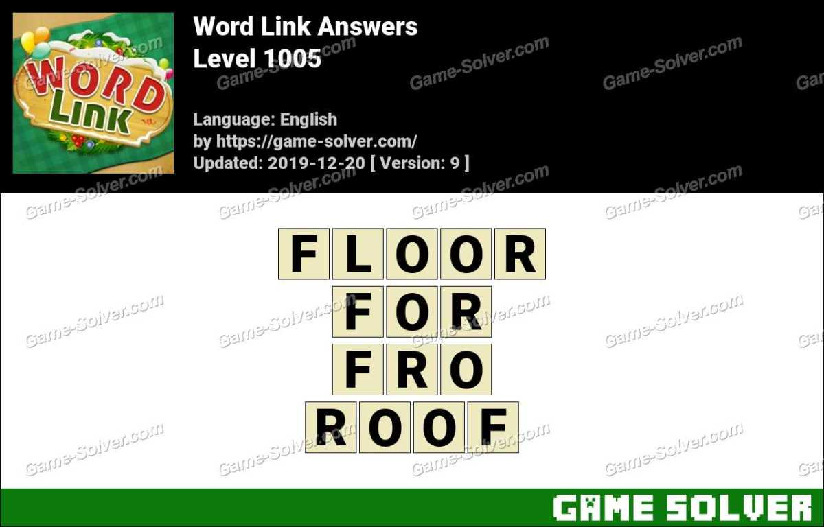Word Link Level 1005 Answers