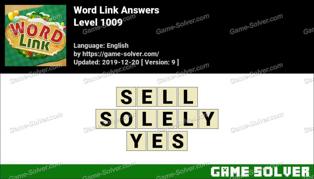 Word Link Level 1009 Answers