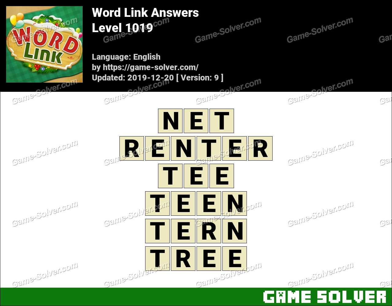 Word Link Level 1019 Answers