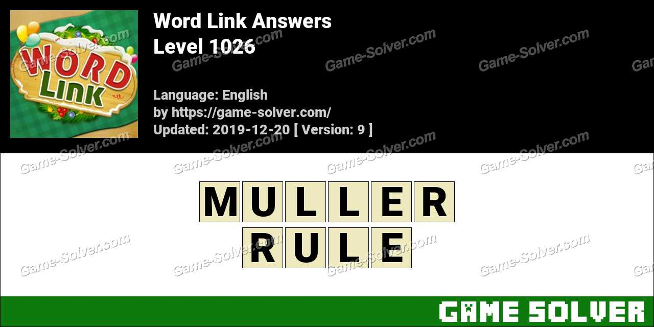 Word Link Level 1026 Answers