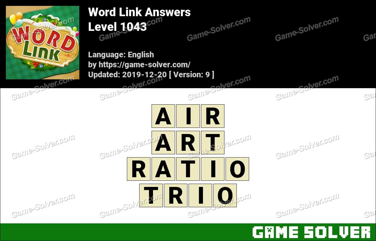 Word Link Level 1043 Answers