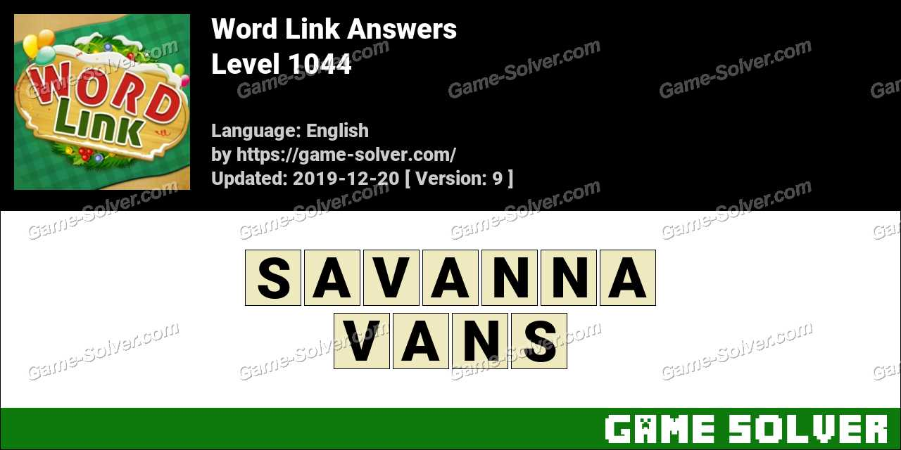 Word Link Level 1044 Answers