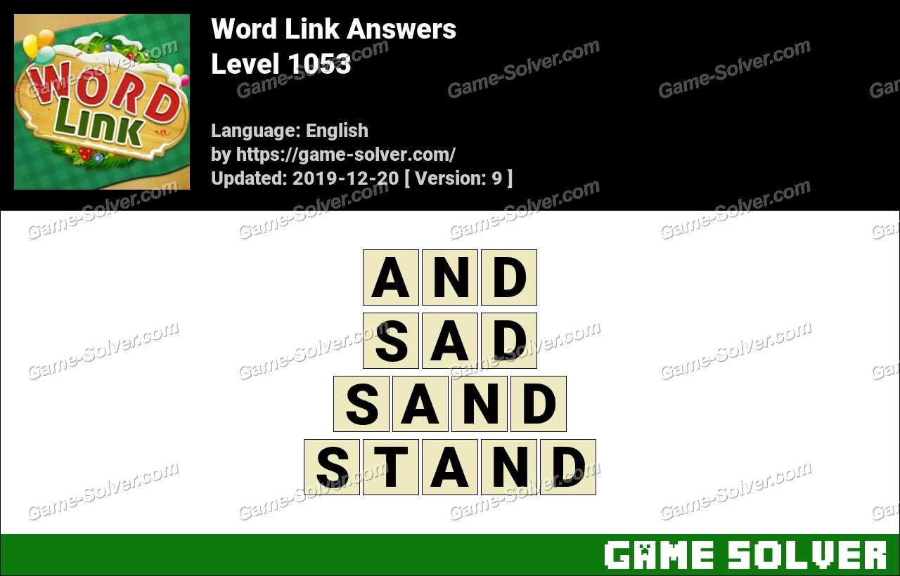 Word Link Level 1053 Answers