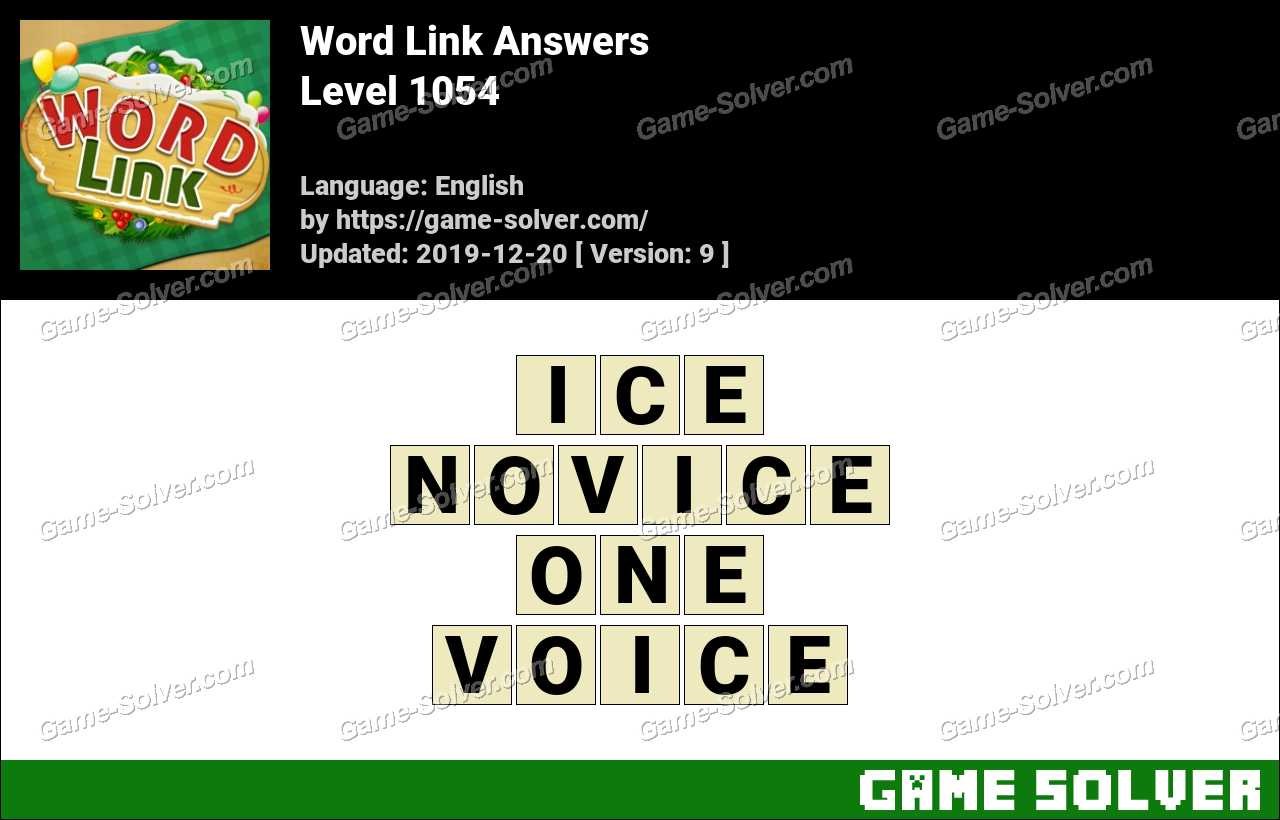 Word Link Level 1054 Answers