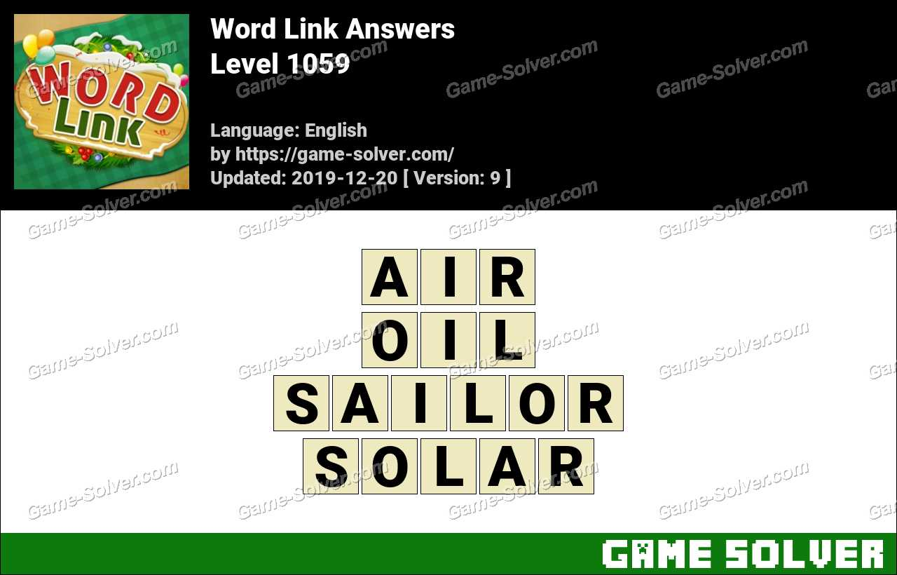 Word Link Level 1059 Answers